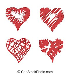 Vector hearts set.