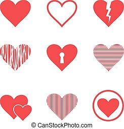 Vector hearts set illustration