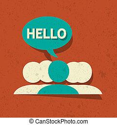 Vector Hello Speech Bubble