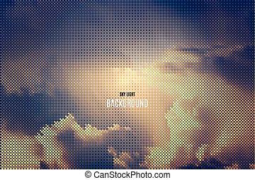vector, hemel, achtergrond