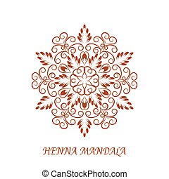 Vector Henna Color Mandala over white