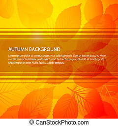 vector, herfst, abstract, floral, achtergrond