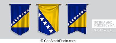 vector, herzegovina, bosnia, conjunto, plano de fondo, ...