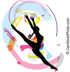 vector, het dansen., illustratie