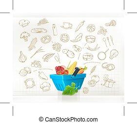 vector, het koken, infographics