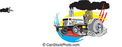 vector, het trekken, tractor