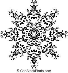 Vector hexagonal design ornament, pattern