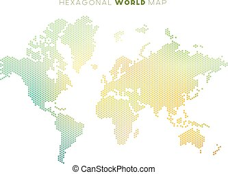 Vector abstract world map abstract world map background eps vector hexagonal world map gumiabroncs Gallery