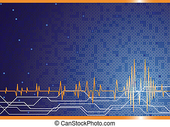 Vector hi-tech background in blue color; clip-art