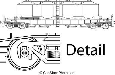 railway wagon - Vector high detailed flour carrying railway...