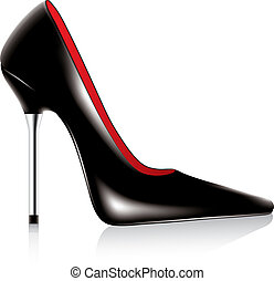 high heel shoe - vector high heel shoe with metal stiletto