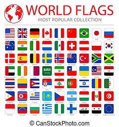 Vector high quality collection set of major world countries