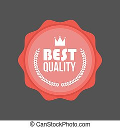 Vector High Quality flat badge, Round Label