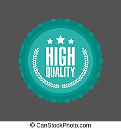 Vector High Quality flat badge Sign, Round Label