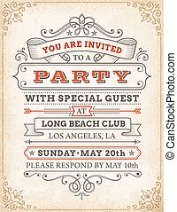 Vector High Quality Party invitation
