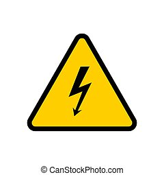 Vector high voltage attention sign.