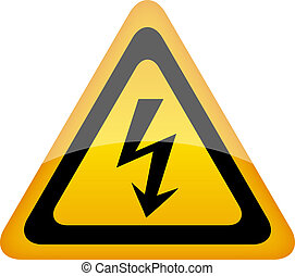Vector high voltage sign with lightning, eps10