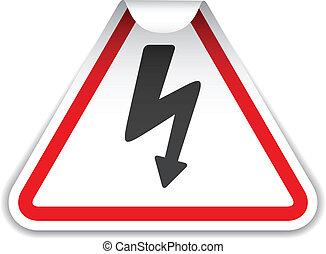 vector high voltage sticker
