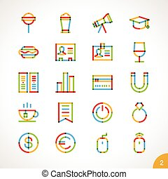 Vector Highlighter Line Icons 2