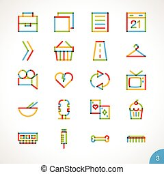 Vector Highlighter Line Icons 3