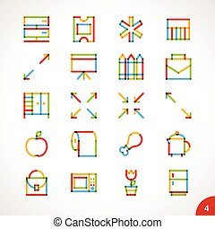 Vector Highlighter Line Icons 4
