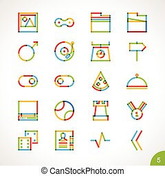 Vector Highlighter Line Icons 5