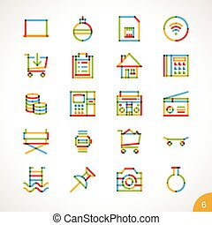 Vector Highlighter Line Icons 6