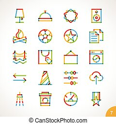 Vector Highlighter Line Icons 7