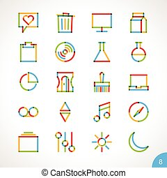 Vector Highlighter Line Icons 8