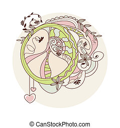 hippie peace symbol - vector hippie peace symbol on white...