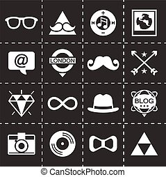 Vector Hipster icon set