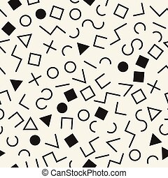 vector hipster memphis background. seamless geometric pattern