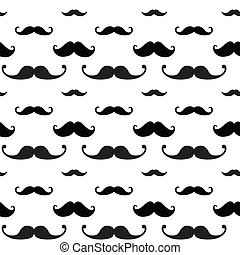 Hipster Mustache Seamless Pattern
