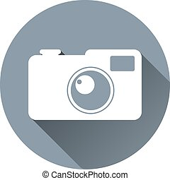 Vector Hipster Photo Camera Icon