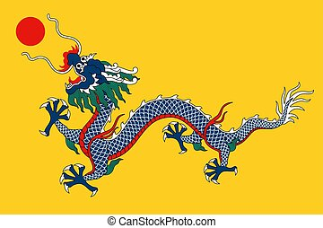 Vector Historical flag - Historical flag of Empire of China...