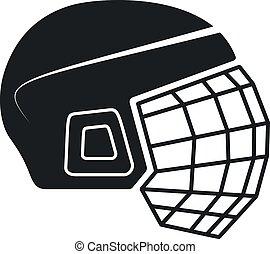 Vector Hockey Helmet Icon - Hockey Helmet Icon, Vector...