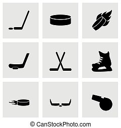 Vector hockey icon set