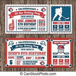 Vector Hockey Invite templates