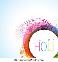 holi festival - vector holi festival background illustration