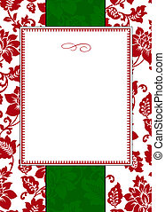 Seamless holiday pattern and decorative frame. Pattern is included as a seamless swatch.