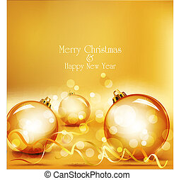 vector holiday gold background with