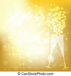 Vector holiday golden background