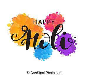 illustration of abstract colorful Happy Holi background