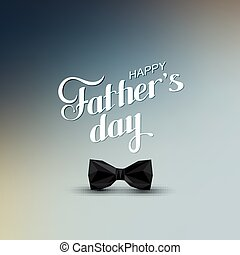 Happy Fathers Day retro label with black bow tie
