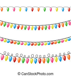 Vector Holiday Lights - Vector Illustration of Colorful...