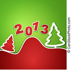 vector holiday new year 2013 background