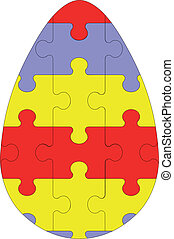 Holiday puzzle egg in color 03