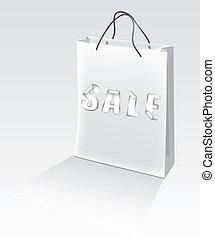Vector holiday sale Shopping Bag