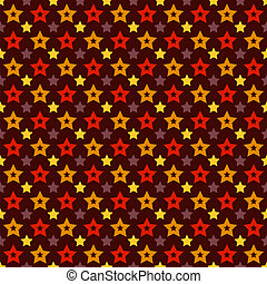 Vector holiday triumph star shape seamless pattern (tiling)