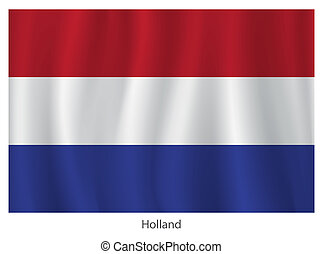 Holland flag - Vector Holland flag with title on the white...
